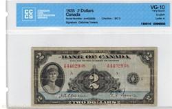 Billet de 2 dollars  1935