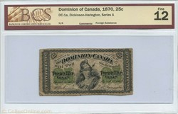 25 cents 1870  du dominion of Canada