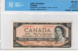 billetde 50 dollars 1954