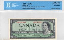 Billet 1 dollar 1954