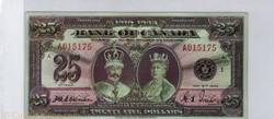 billet de 25 dollars 1935