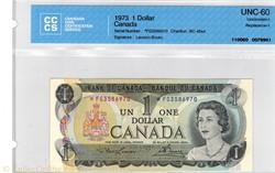 billet de 1 dollar 1973 BC-46aA