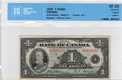 billet  de 1 dollar 1935