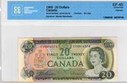 billet de 20 dollars 1969