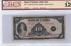 billet de 10 dollars 1935