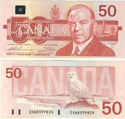 billet de 50 dollars 1988