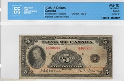 Billet de 5 dollars1935