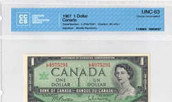 billet de 1 dollars 1967