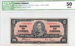 Billet de 2 dollars  1937
