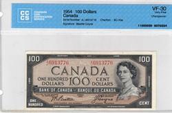 billet de 100 dollars 1954