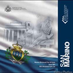 Saint-Marin - Série officielle BU - 2012
