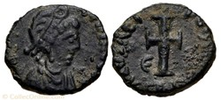 Nummus of Galla Placidia (421-450)