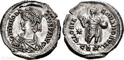 Light miliarense of Theodosius II (402-4...