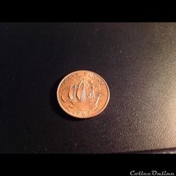 Un demi-penny de 1967