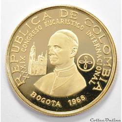 monnaie monde colombie 1500 coffret congreso eucaristico international de bogota