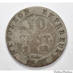 10 centimesNapoleon N couronné série 1...
