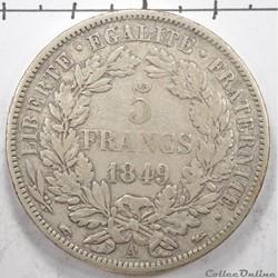 5FrancCéres 1er type 2e république 18...