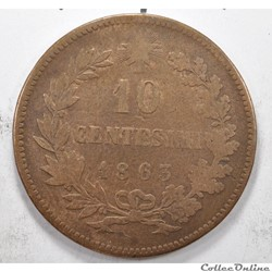 0,1LireVittorio Emanuele II 1863