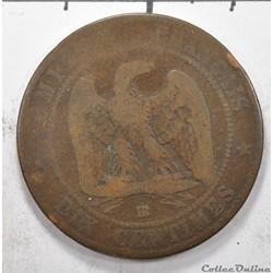 10 centimesNapoléon III tete nue 1853...