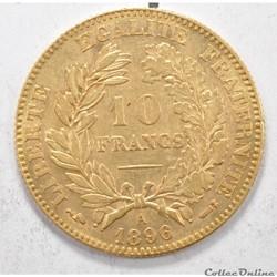 10francNapoleon III tete Laurée 1896