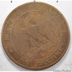 10 centimesfrancNapoléon III tete nue ...