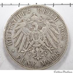 5DeutchmarkWilhelm III Deutcher Kaiser...
