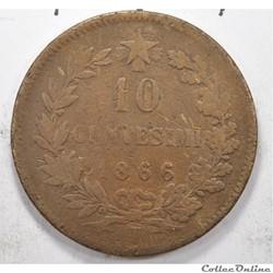 10 centesimiVittorio Emanuele II 1866