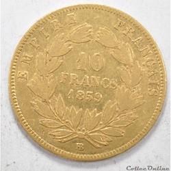 10francNapoleon III tete nue 1859
