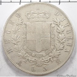 5LireVittorio Emanuele II1870
