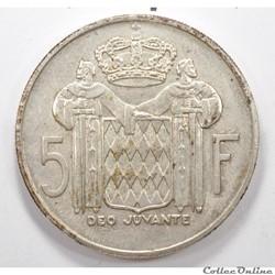 5 Franc Rainier III de Monaco1960
