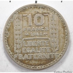 10francTurin grosse tête 1946