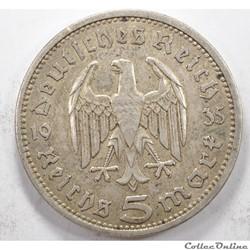 5Reichsmark3e Reich 1935