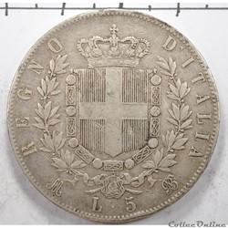 5LireVittorio Emanuele II1871