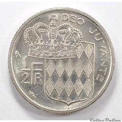 0,5    Franc Rainier III de Monaco1965...