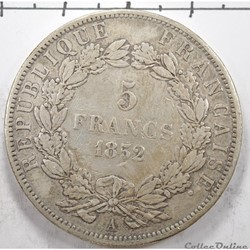 5FrancLouis Napoleon Bonaparte 1852