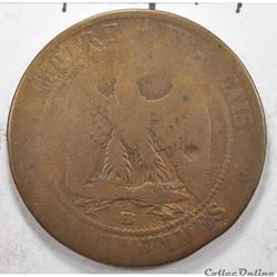 10 centimesNapoleon III tete Laurée 18...