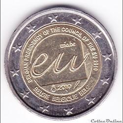 Pièce 2 euros. Présidence belge du Conseil de l'Union européenne en 2010