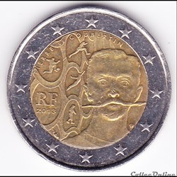 Pièce 2 euros. 150e anni naissance fonda...