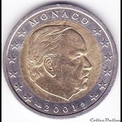 Pièce 2€. Prince Rainier III