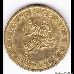 Pièce euro 50ct. Le sceau de Monaco