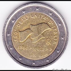 Pièce 2€. 150e anniversaire de l'unification italienne