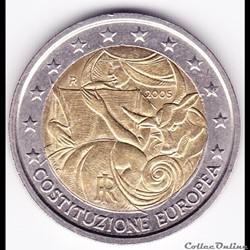 Pièce 2€. 1er anniversaire de la signature du Traité de Rome de 2004
