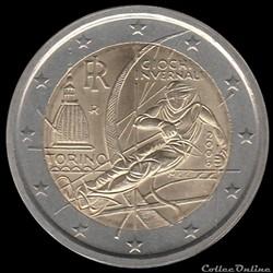 Pièce 2 euros. XXe Jeux olympiques d'hiver de Turin de 2006