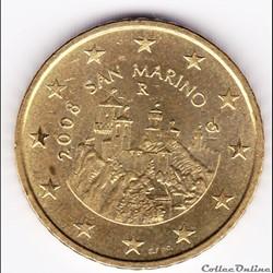 Pièce euro 50ct. Les Trois tours de Sain...