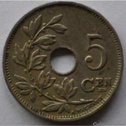 monnaie monde belgique 5 centimes 1922 nl