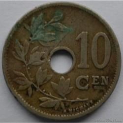 monnaie monde belgique 10 centimes 1904 nl