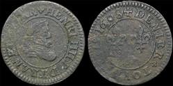 CGKL 206.A - Henri IV - Denier tournois ...
