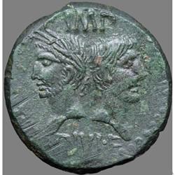 Auguste et Agrippa - Dupondius - Nîmes, ...