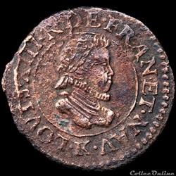 CGKL 300 - Louis XIII - Denier tournois 1611 K Bordeaux