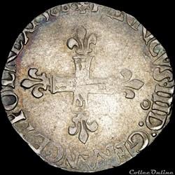 Henri III (1574-1589) - Huitième d'écu -...